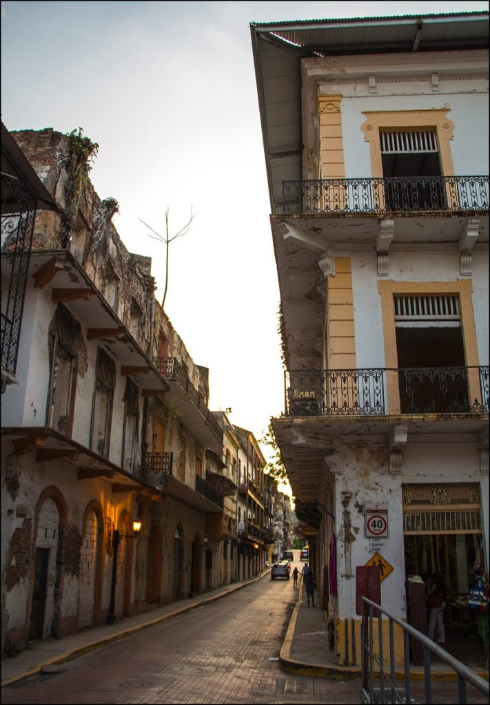 Colonial buildings in Panama City