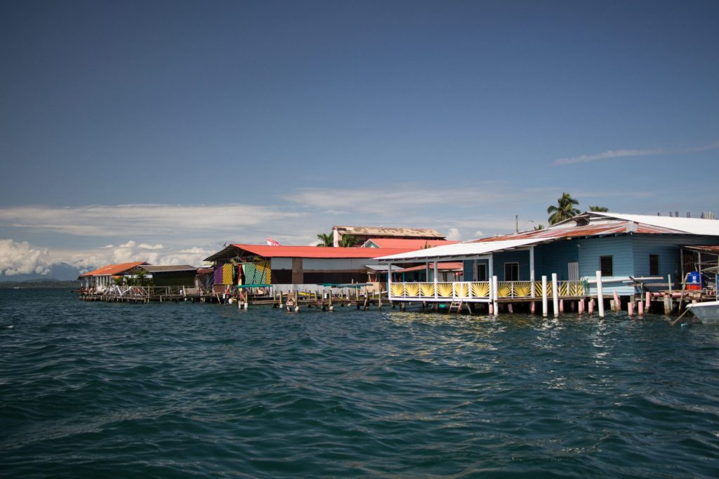 Houses on the water in Bocas Town
