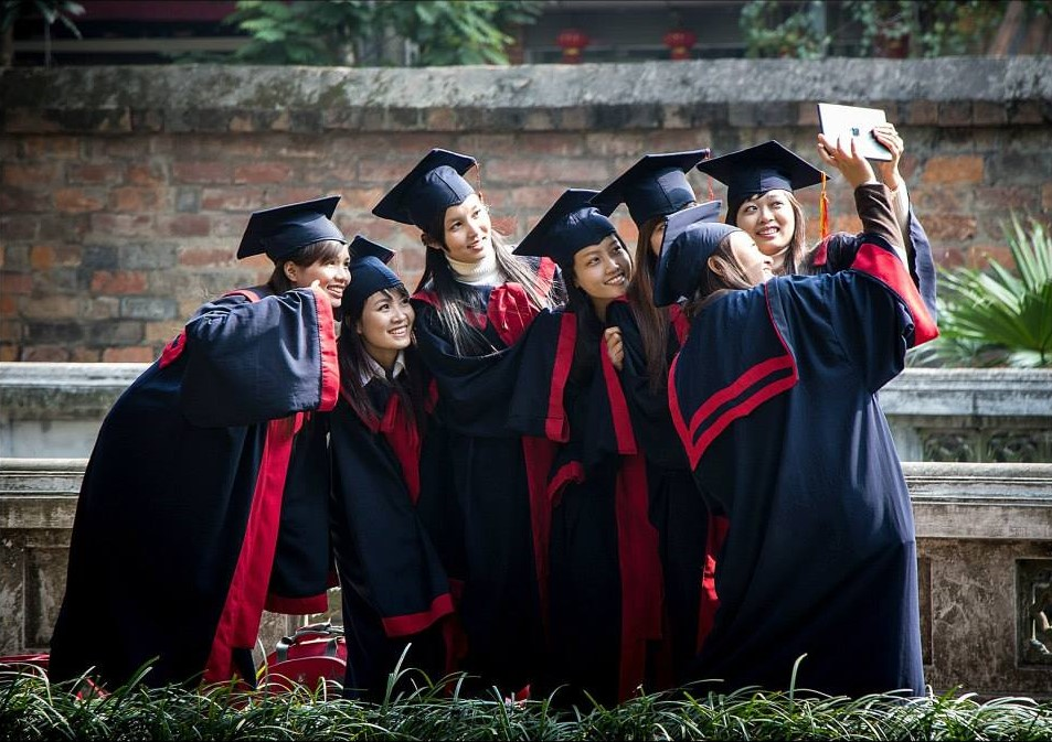 Graduation celebration at the Temple of Literature
